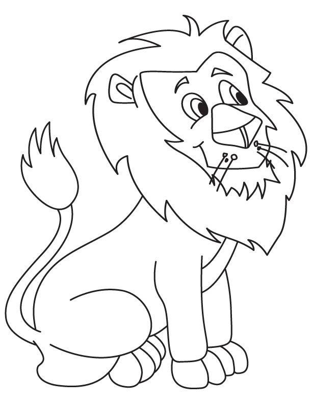 Tranh tô màu sư tử đẹp