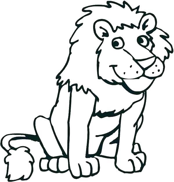 Tranh tô màu sư tử núi