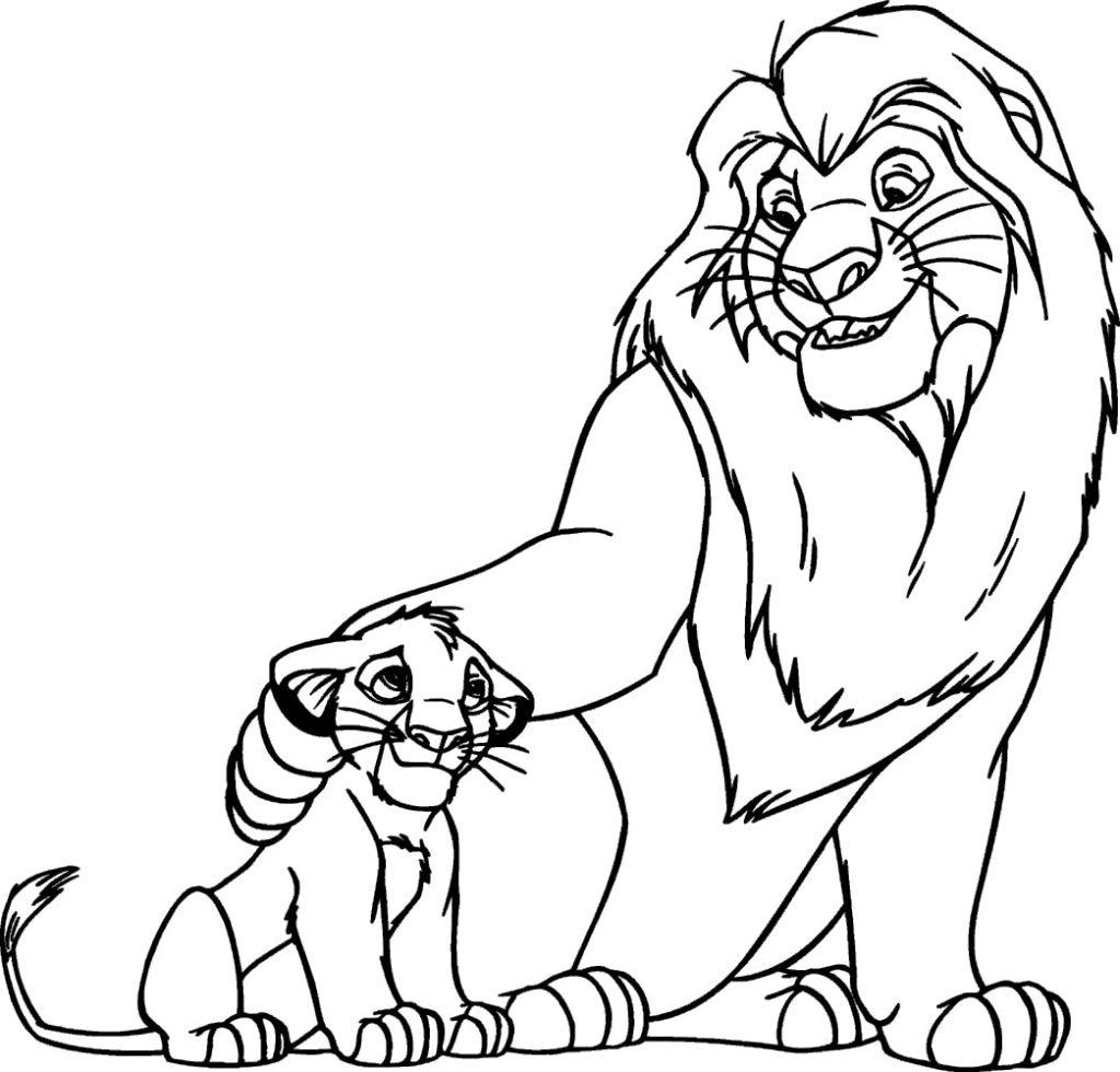Tranh tô màu vua sư tử