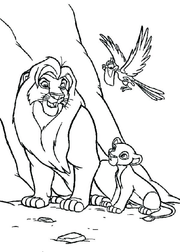 Tranh vua sư tử tô màu