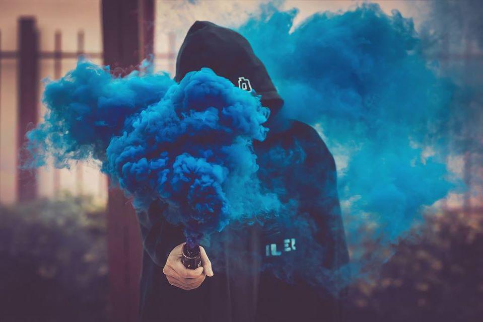 Hình ảnh chụp với khói