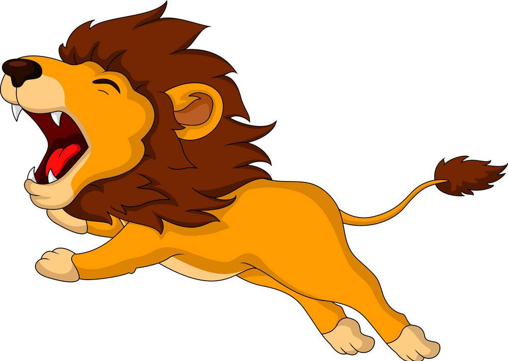 Hình ảnh con sư tử hoạt hình