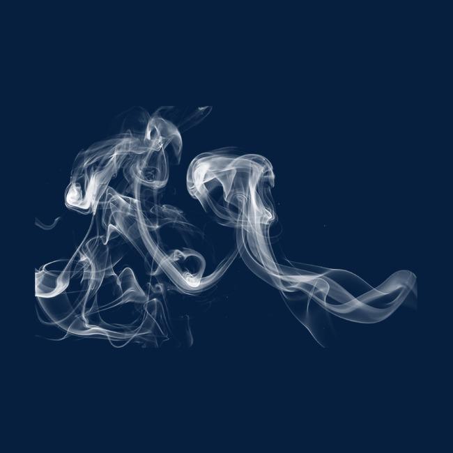 Hình ảnh khói đẹp màu xanh