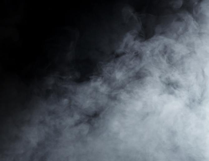 Hình ảnh khói màu trắng mờ