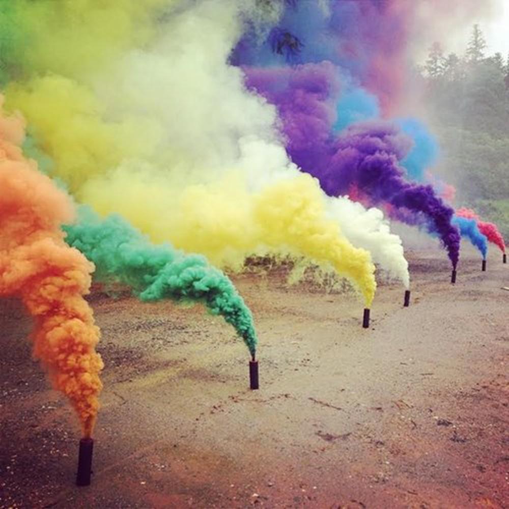 Hình ảnh khói nhiều màu