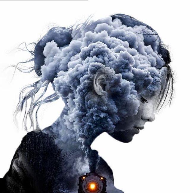 Hình ảnh khói sáng tạo