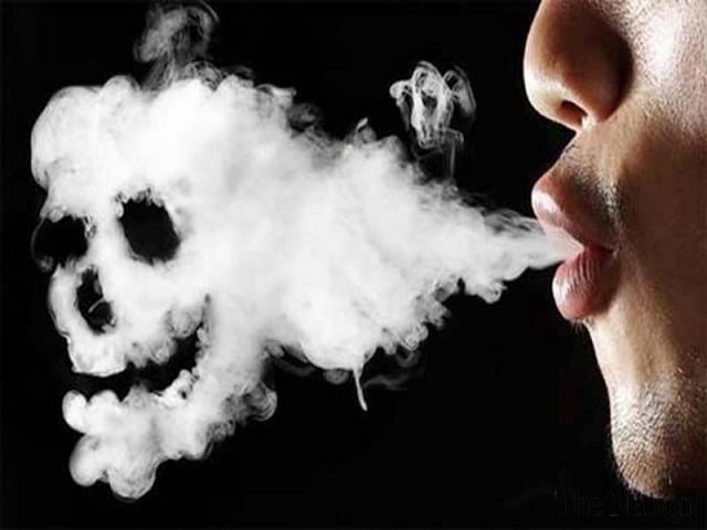 Hình ảnh khói thuốc nguy hiểm