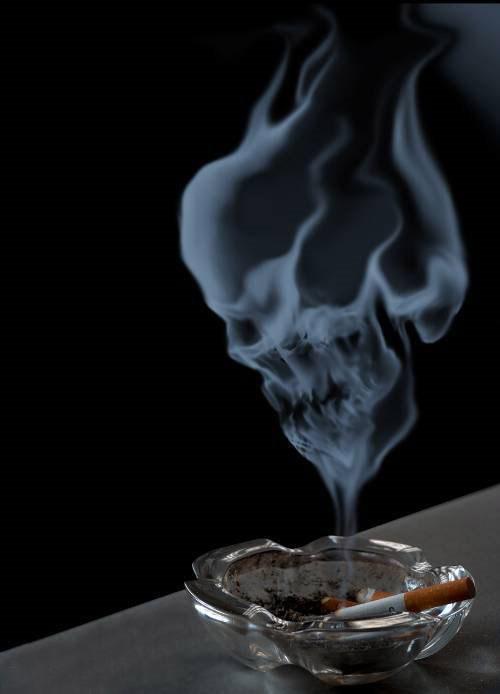 Hình ảnh tàn khói thuốc