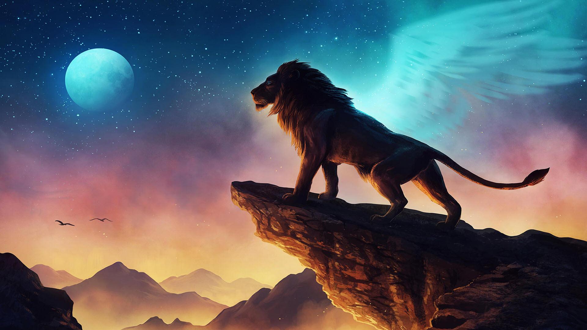 Hình nền 3D vua sư tử
