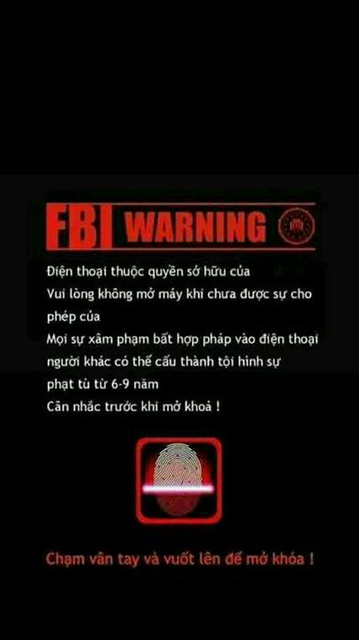 Hình nền điện thoại cảnh báo