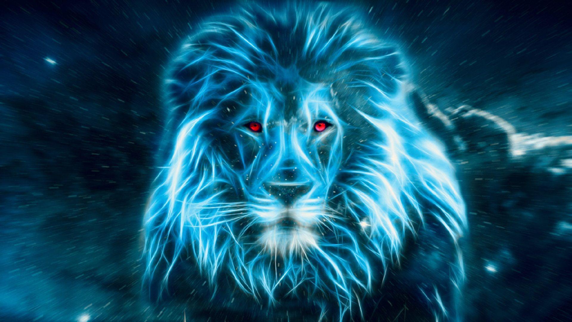 Hình nền sư tử 3D