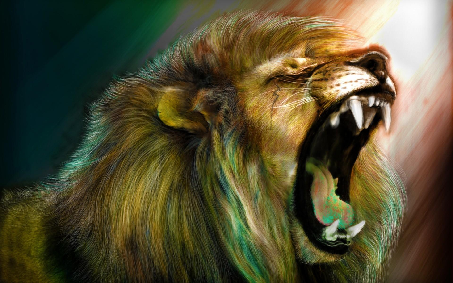 Hình nền sư tử gầm