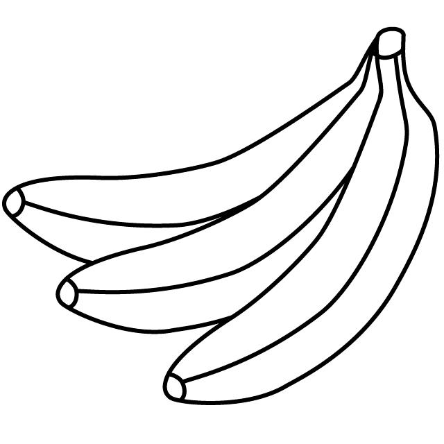 Tranh tô màu ba quả chuối