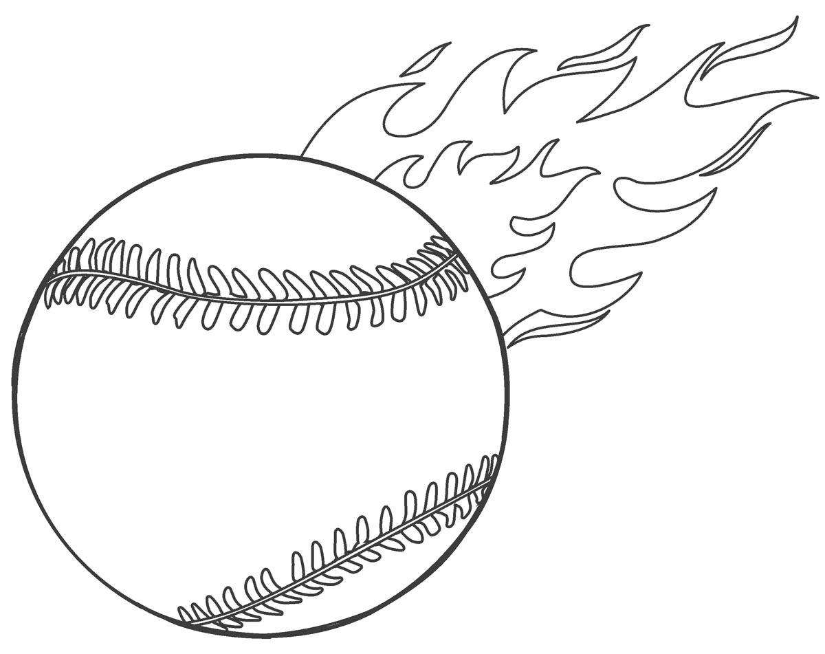 Tranh tô màu bóng chày