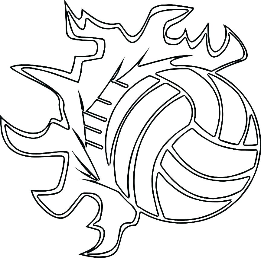 Tranh tô màu bóng chuyền cực đẹp