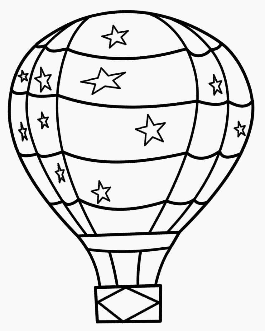 Tranh tô màu bóng khí cầu