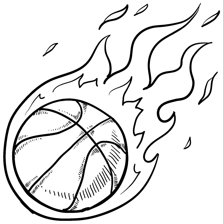 Tranh tô màu bóng rổ tốc độ