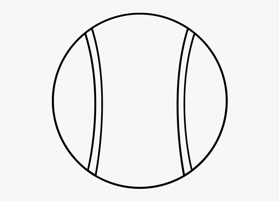 Tranh tô màu bóng tennis đơn giản