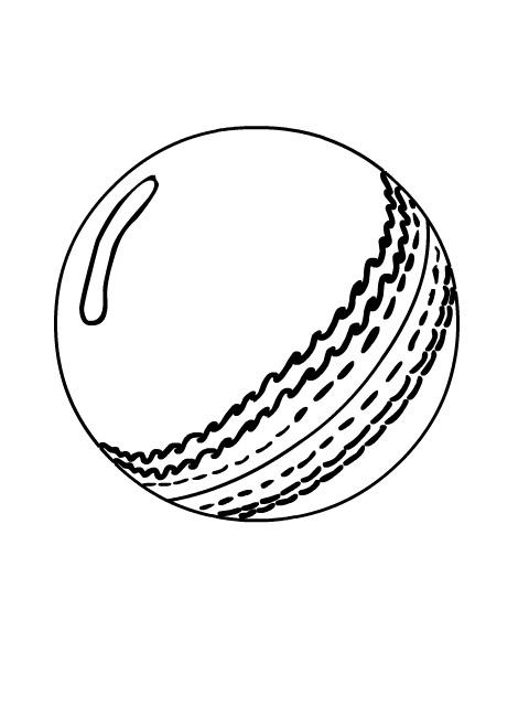 Tranh tô màu hình quả bóng