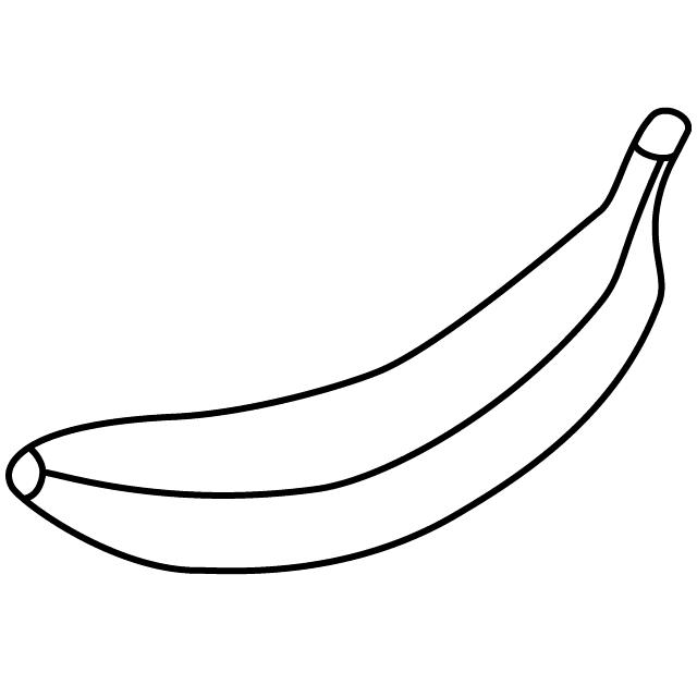 Tranh tô màu hình quả chuối