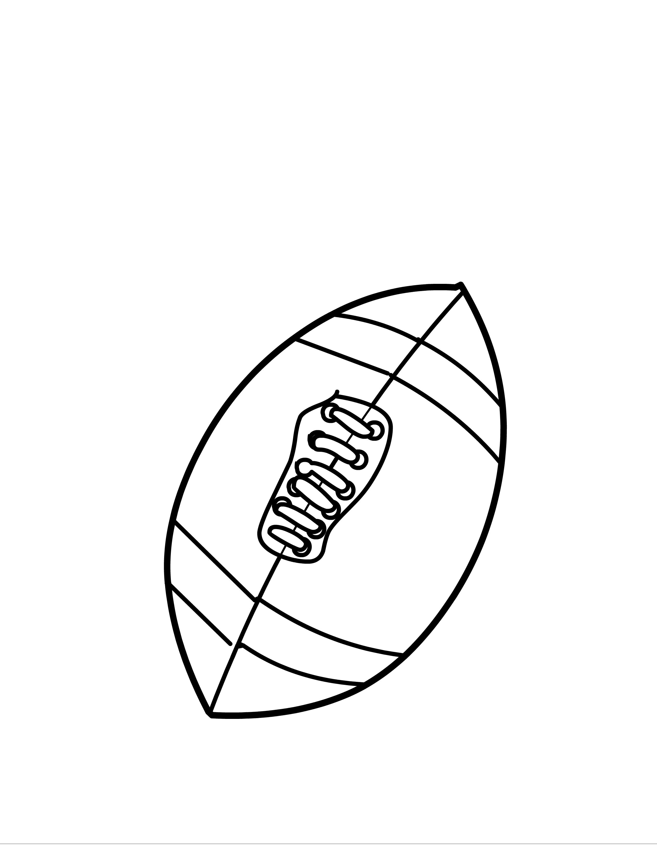 Tranh tô màu quả bóng bầu dục