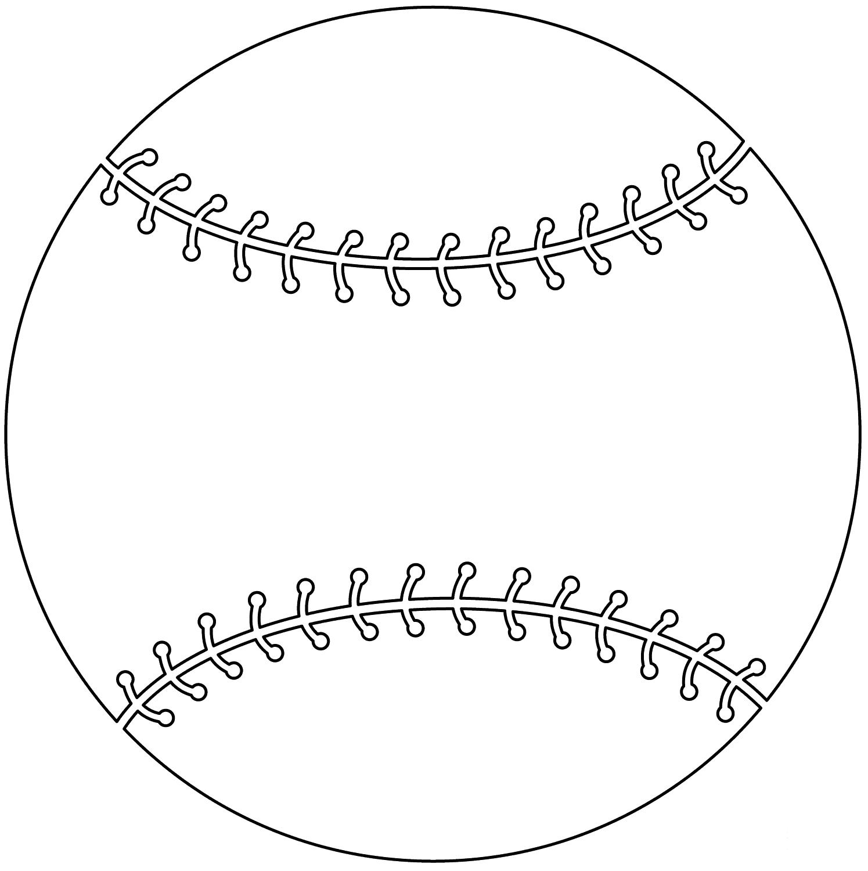 Tranh tô màu quả bóng chày