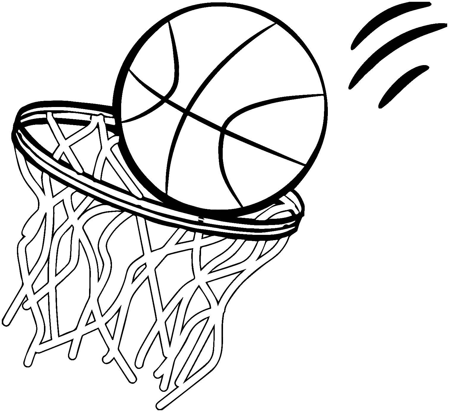 Tranh tô màu quả bóng chuyền