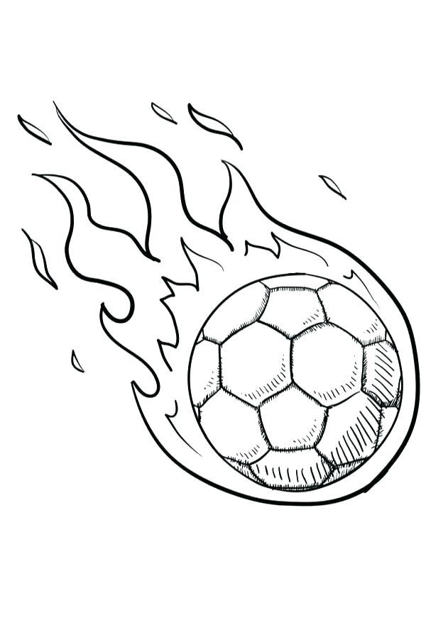 Tranh tô màu quả bóng đá cho bé
