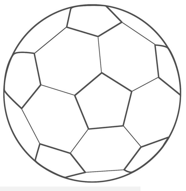 Tranh tô màu quả bóng đá