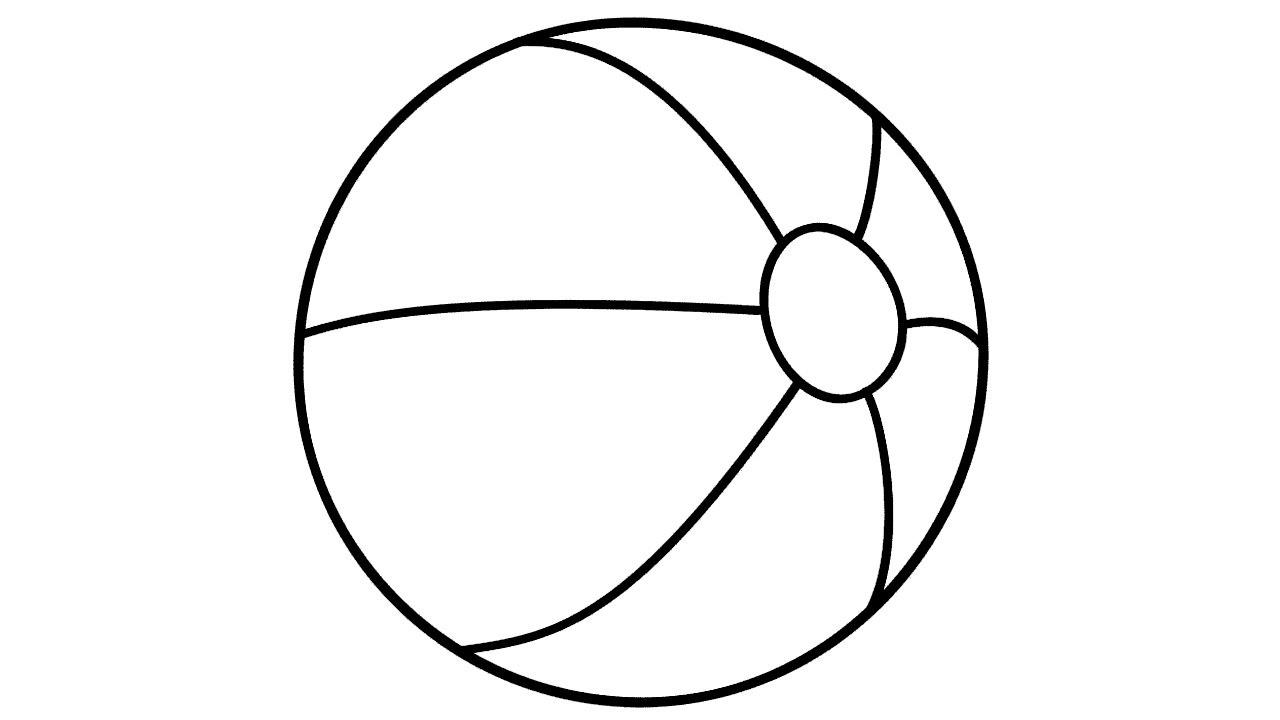 Tranh tô màu quả bóng tròn