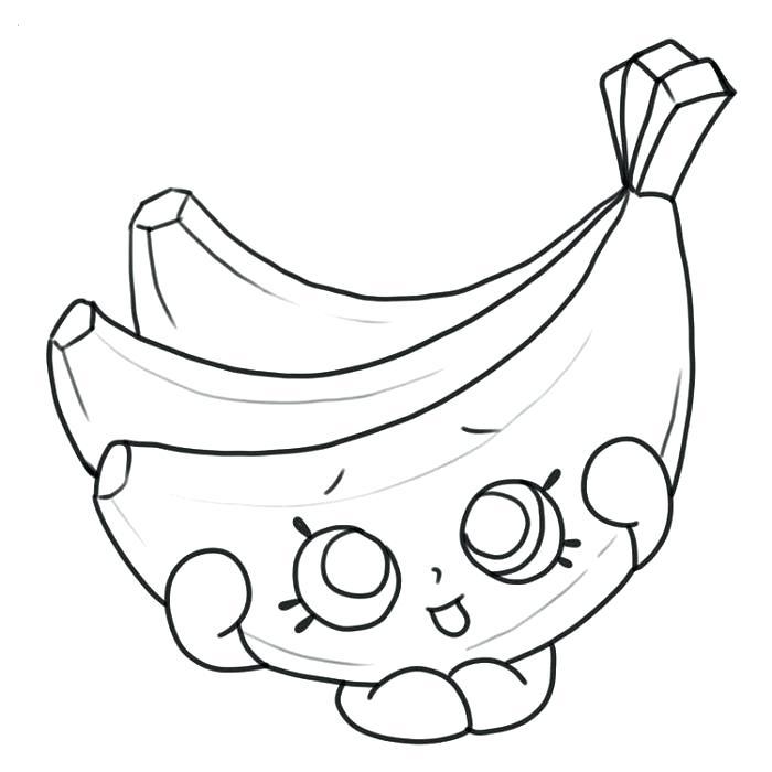 Tranh tô màu quả chuối cute