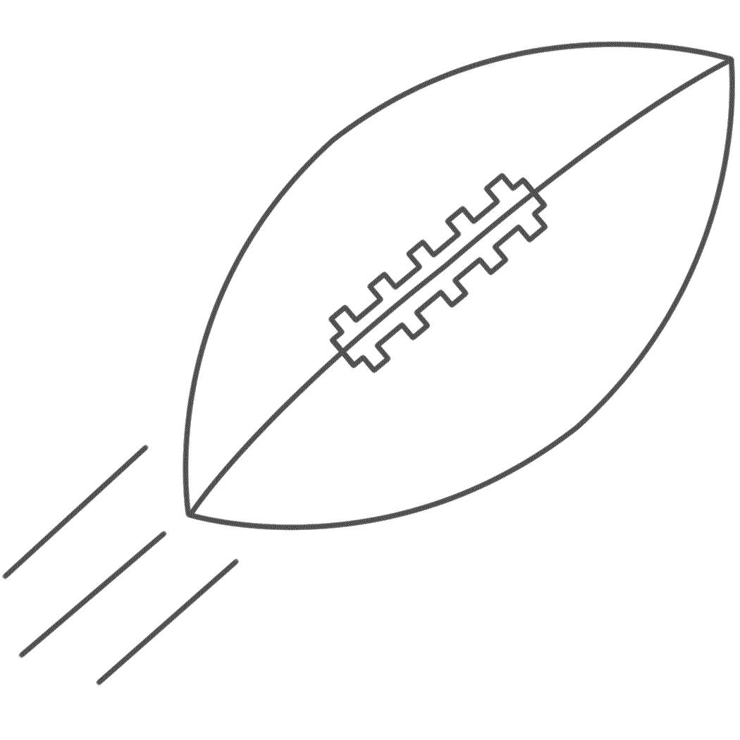 Tranh tô màu trái bóng bầu dục