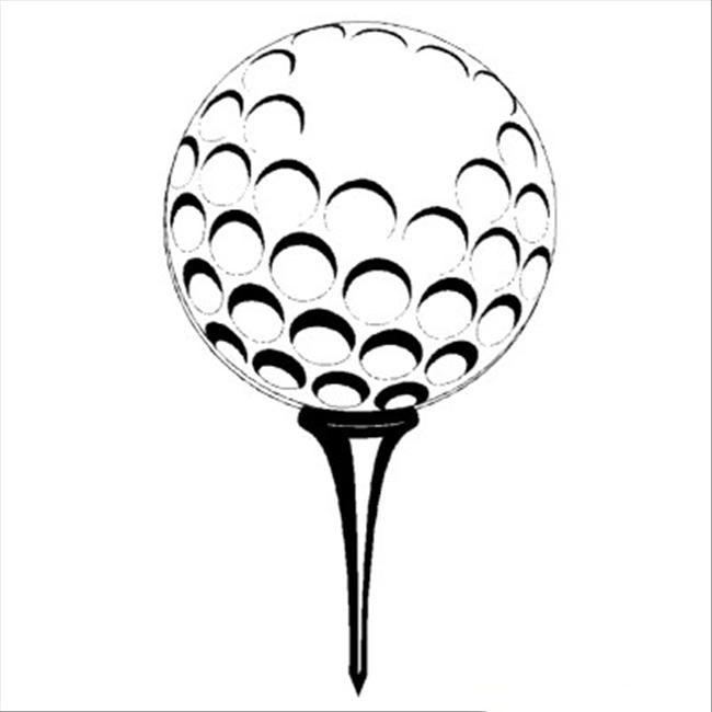 Tranh tô màu trái bóng golf