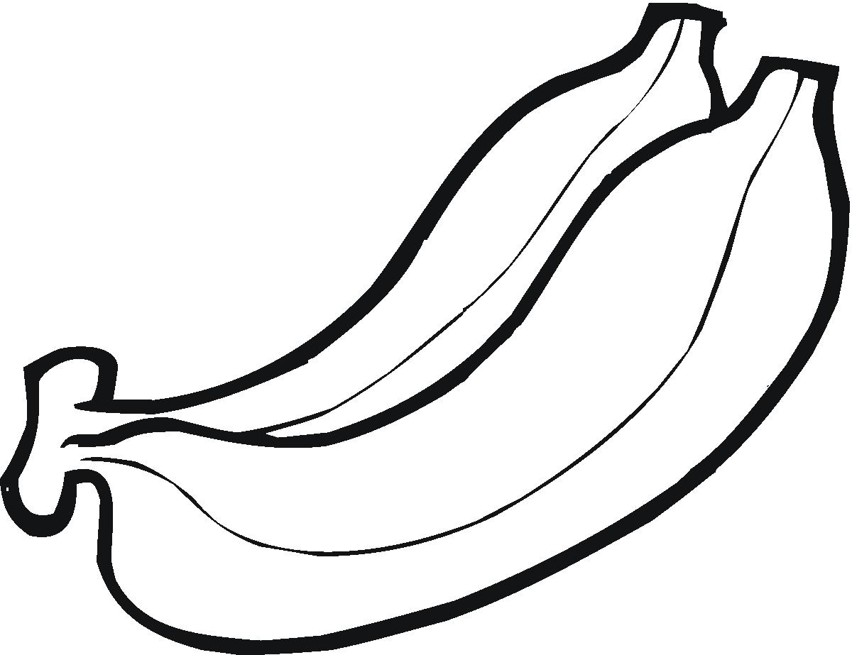Tranh vẽ quả chuối tô màu