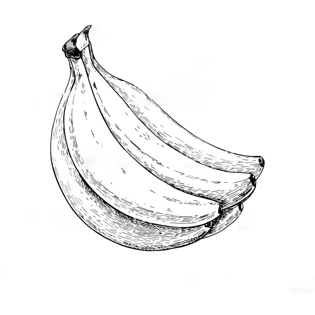 Tranh vẽ trái chuối tô màu