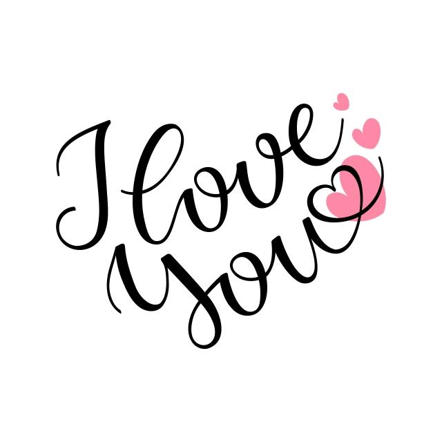 Ảnh chữ I Love You cực đẹp