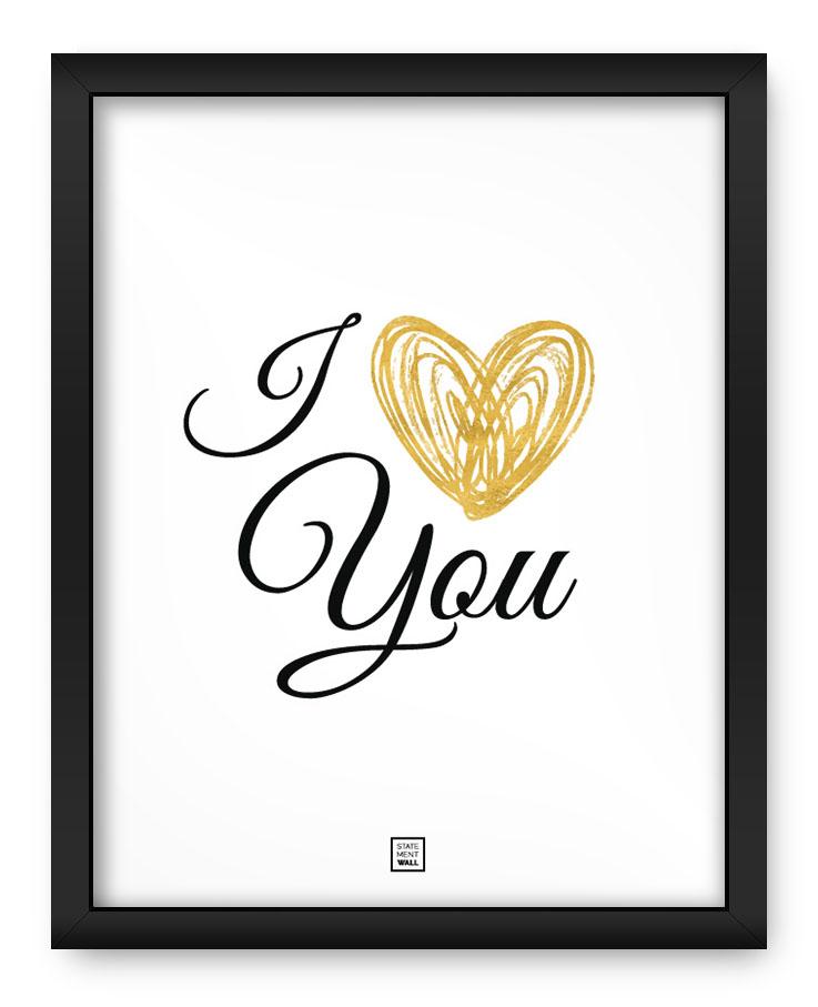 Ảnh chữ I Love You đơn giản cực đẹp