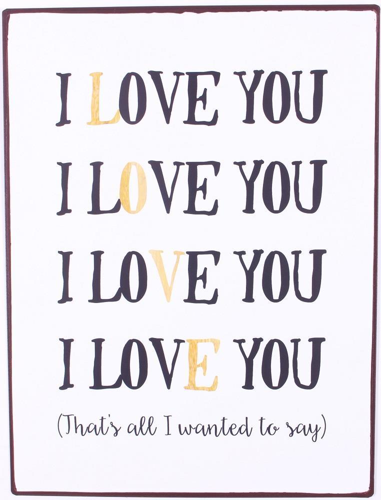 Ảnh chữ I Love You đơn giản đẹp nhất
