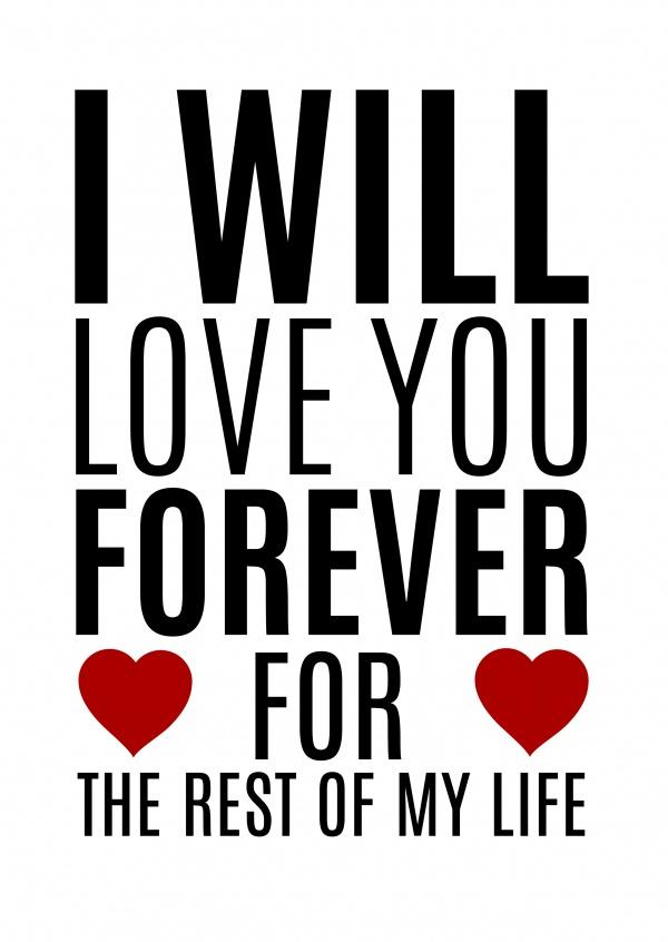 Ảnh chữ I Love You đơn giản