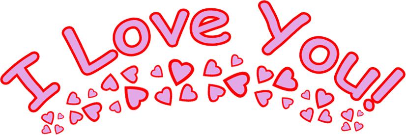 Hình ảnh chữ I Love You đáng yêu