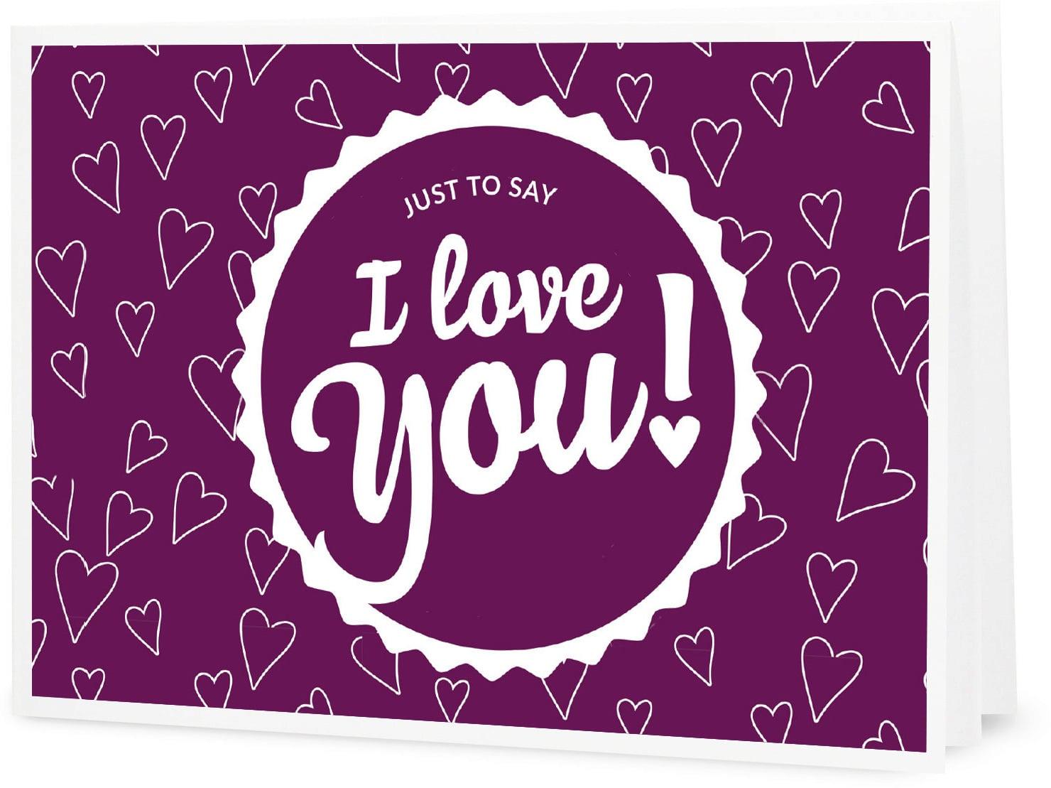 Hình ảnh chữ I Love You dễ thương cực đẹp