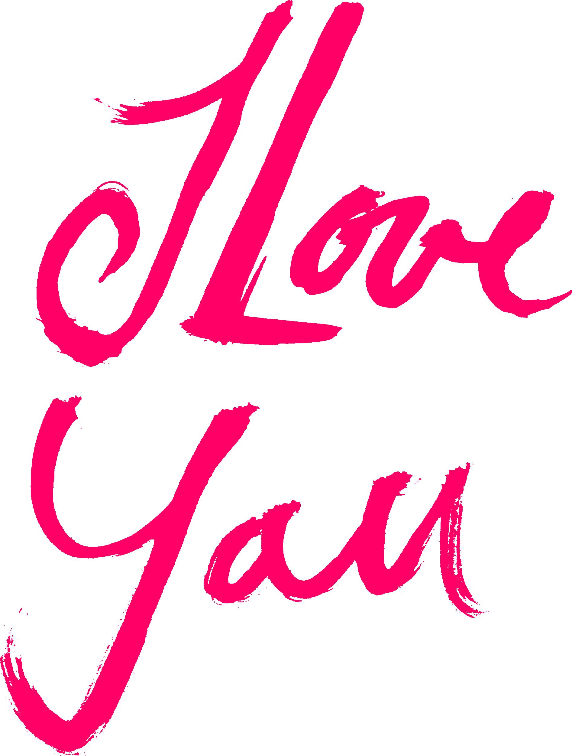 Hình ảnh chữ I Love You dễ thương nhất