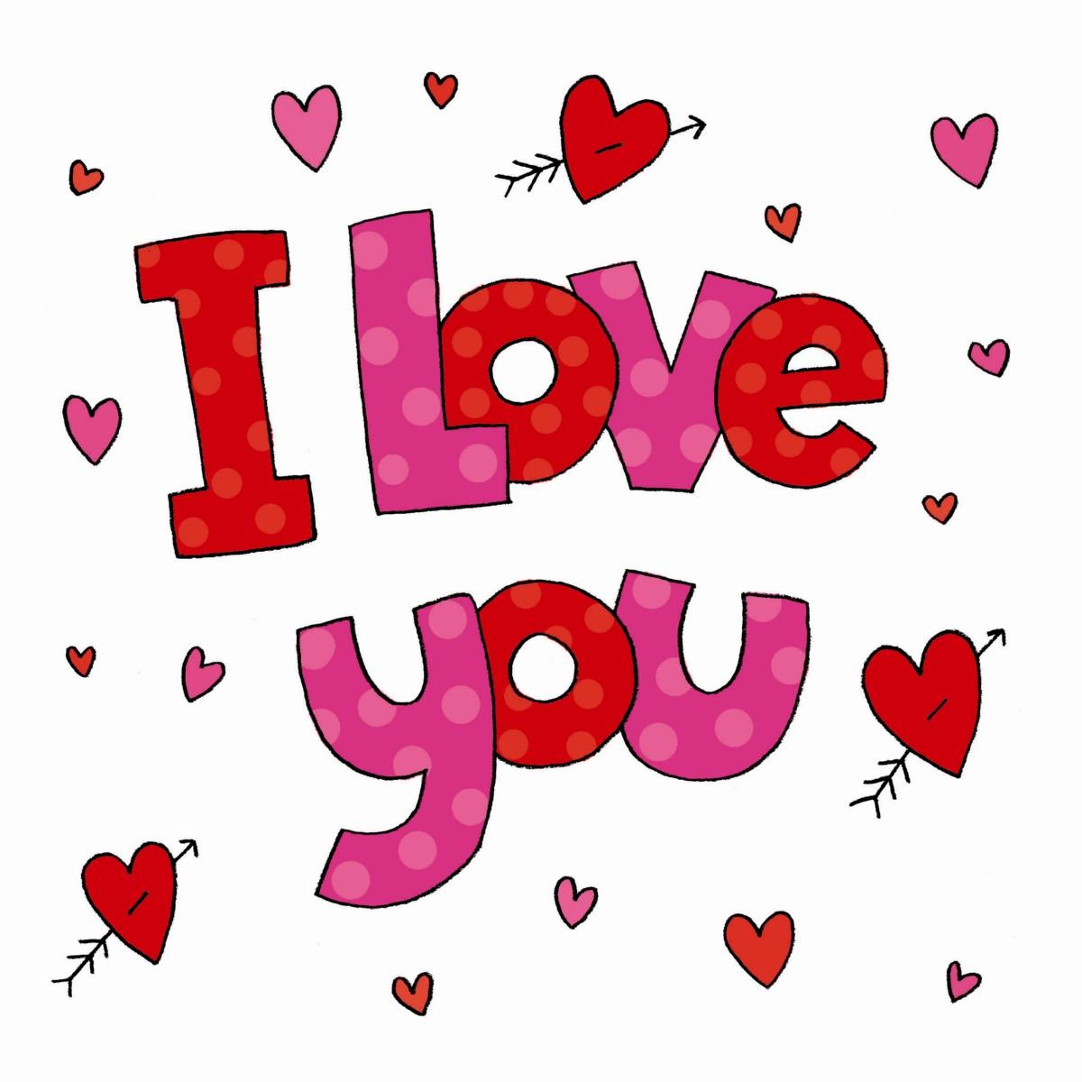 Hình ảnh chữ I Love You dễ thương