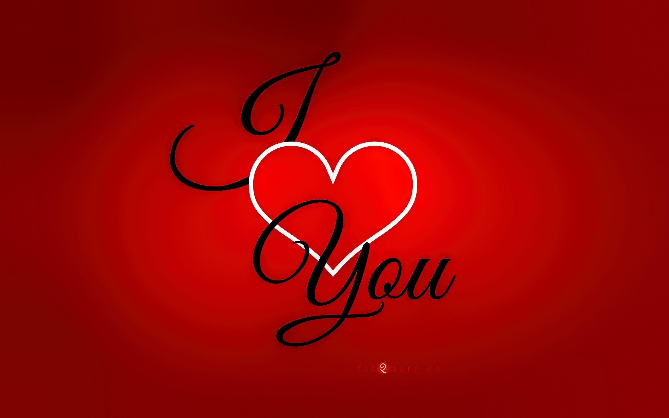 Hình ảnh chữ I Love You đơn giản cực đẹp