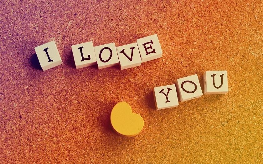 Hình ảnh chữ I Love You đơn giản dễ thương