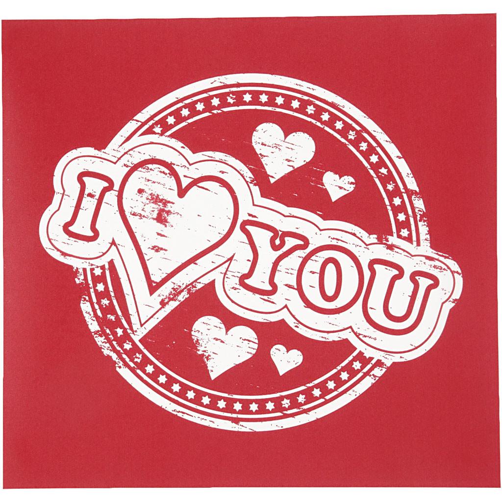 Hình ảnh chữ I Love You đơn giản đẹp siêu đẹp