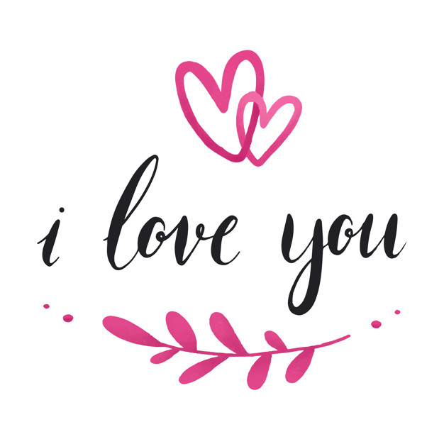 Hình ảnh chữ I Love You đơn giản đẹp