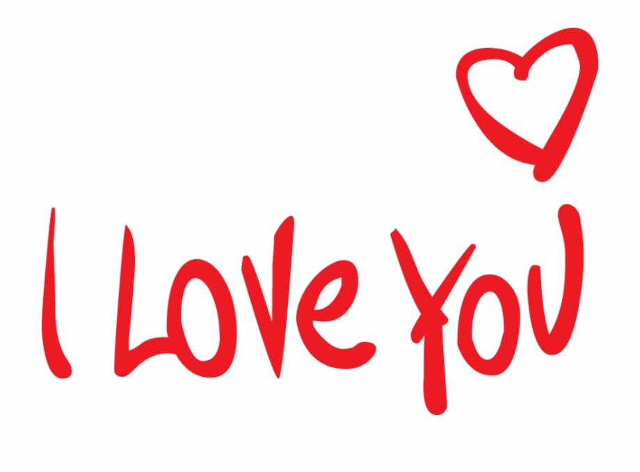 Hình ảnh chữ I Love You đơn giản