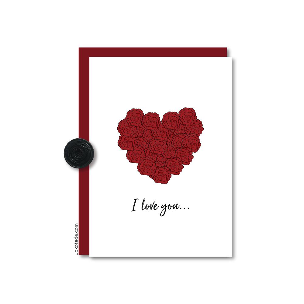 Hình ảnh chữ I Love You hoa hồng