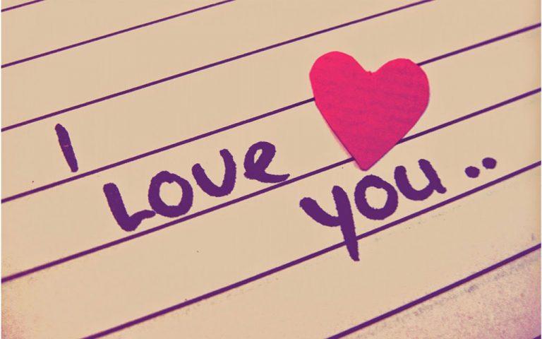 Hình ảnh chữ I Love You tình cảm đẹp